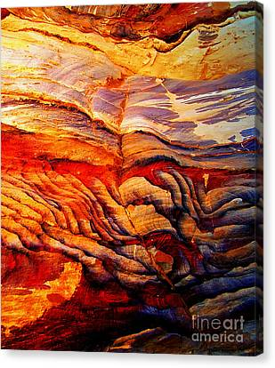 Rock Fingers Canvas Print by Callan Percy