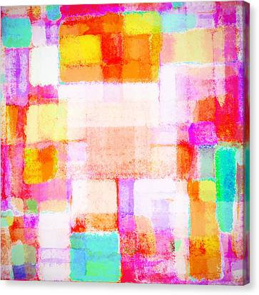 Abstract Geometric Colorful Pattern Canvas Print by Setsiri Silapasuwanchai