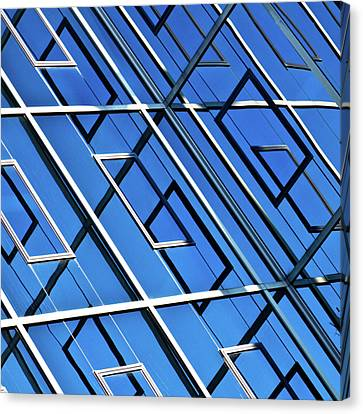 Abstract Geometric Reflection Canvas Print by by Fabrice Geslin