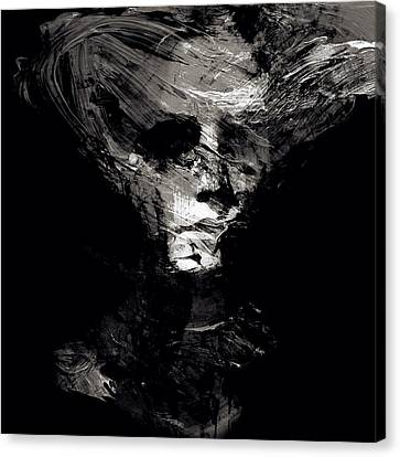 Abstract Ghost Black And White Canvas Print by Marian Voicu