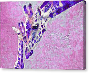 Abstract Giraffes2 Canvas Print by Jane Schnetlage