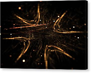 Abstract Glowing Arrows Shape Pointing Inside Canvas Print