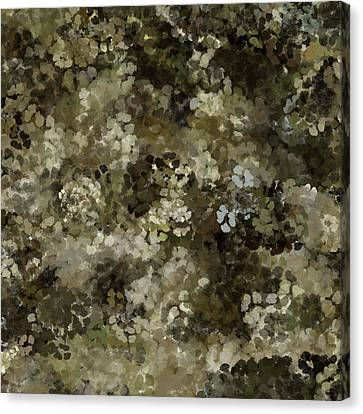 Canvas Print featuring the mixed media Abstract Gold Black White 5 by Clare Bambers