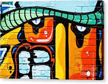 Canvas Print featuring the painting Abstract Graffiti Face by Yurix Sardinelly