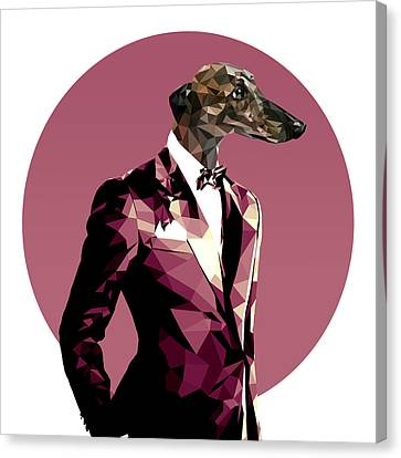 Abstract Greyhound 1 Canvas Print by Gallini Design