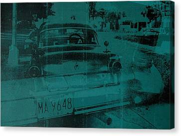 Abstract Green Car Canvas Print by David Studwell