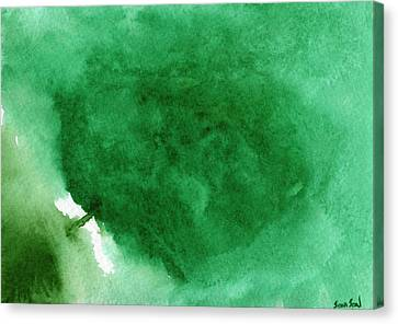 Abstract Green Canvas Print by Sean Seal