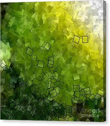 Apple Green - Abstract Tiles No15.819 Canvas Print