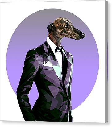 Abstract Greyhound 2 Canvas Print by Gallini Design