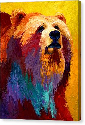 Abstract Grizz Canvas Print by Marion Rose