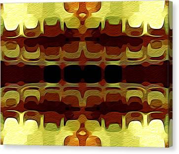 Burnt Umber Canvas Print - Abstract Horizontal Tiles - Harvest 1977 by Jason Freedman