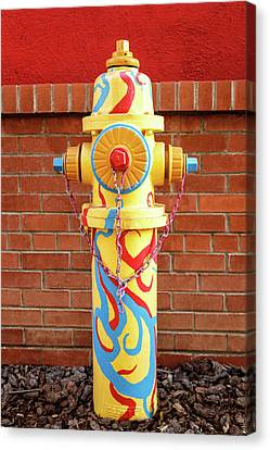 Canvas Print featuring the photograph Abstract Hydrant by James Eddy