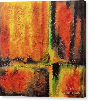 Canvas Print featuring the mixed media abstract I by Dragica  Micki Fortuna