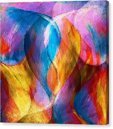 Abstract In Aqua Canvas Print by Brenda Bryant