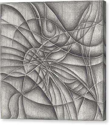 Abstract In Pencile Canvas Print