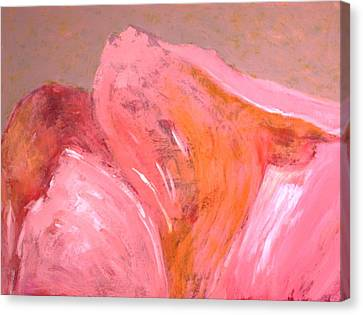 Canvas Print featuring the painting Abstract In Pink by Jan Swaren