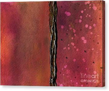 Abstract In Rose And Copper Canvas Print by Desiree Paquette