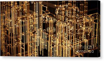 Abstract Industrial And Technology Banner Background Canvas Print by Michal Bednarek