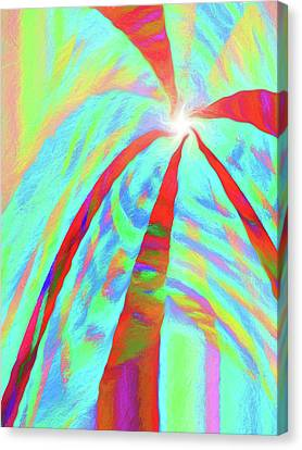 Abstract Art On Canvas Print - Abstract - Into The Light  Vertical by Jon Woodhams