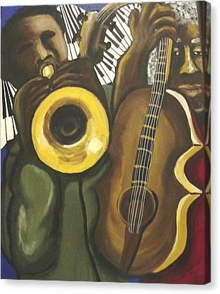Abstract Jazz Duo Canvas Print by Renie Britenbucher