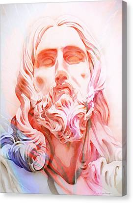 Canvas Print featuring the painting Abstract Jesus 1 by J- J- Espinoza