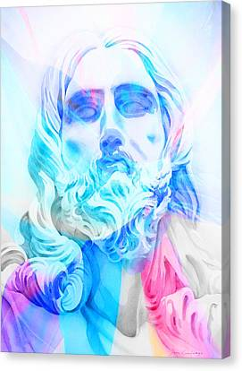 Canvas Print featuring the painting Abstract Jesus 3 by J- J- Espinoza