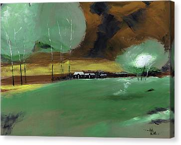 Canvas Print featuring the painting Abstract Landscape by Anil Nene