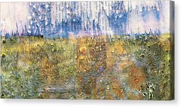 Abstract Landscape Art - Only Words - Sharon Cummings Canvas Print by Sharon Cummings