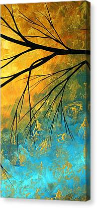 Abstract Art Canvas Print - Abstract Landscape Art Passing Beauty 2 Of 5 by Megan Duncanson