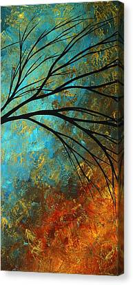 Abstract Landscape Art Passing Beauty 4 Of 5 Canvas Print by Megan Duncanson