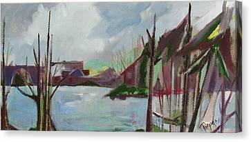 Canvas Print featuring the painting Abstract Landscape by Betty Pieper