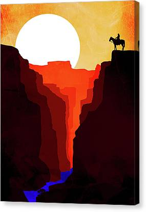 Abstract Landscape Canyon Art 4 - By Diana Van Canvas Print