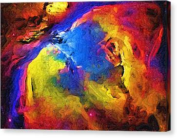Abstract Landscape Canvas Print by Gina Roseanne