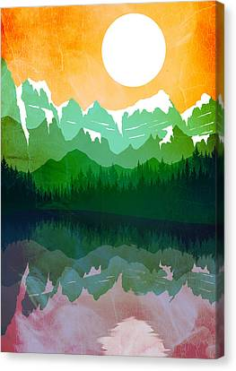 Abstract Landscape Lake Tahoe 2 Canvas Print by Diana Van