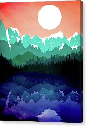 Abstract Landscape Lake Tahoe Canvas Print