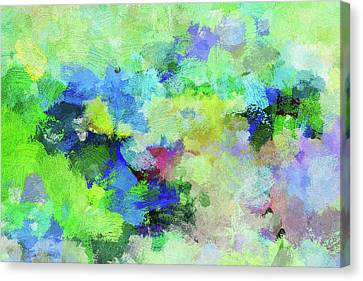 Canvas Print featuring the painting Abstract Landscape Painting by Ayse Deniz