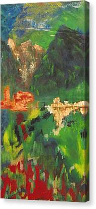 Canvas Print featuring the painting Abstract Landscape by Patricia Cleasby