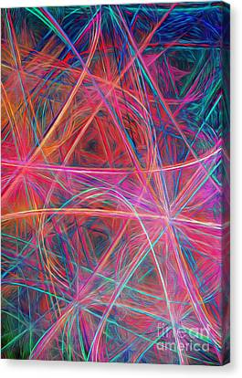 Abstract Light Show Canvas Print by Andee Design