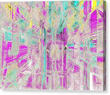 Canvas Print featuring the glass art Abstract Lights  by Fania Simon