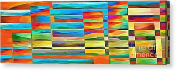 Abstract Lines And Shapes 2 Canvas Print