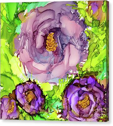 Abstract Lisianthus Canvas Print by Eunice Warfel
