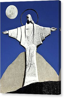 Abstract Lutheran Cross 5 Canvas Print by Bruce Iorio