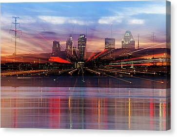 Abstract Montreal Canvas Print by Mircea Costina Photography