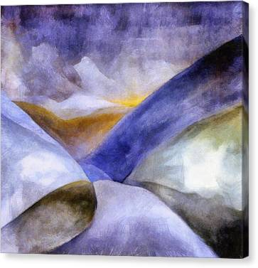 Abstract Mountain Landscape Canvas Print by Michelle Calkins