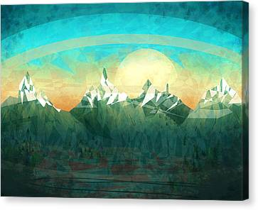 Abstract Mountain Canvas Print by Thubakabra
