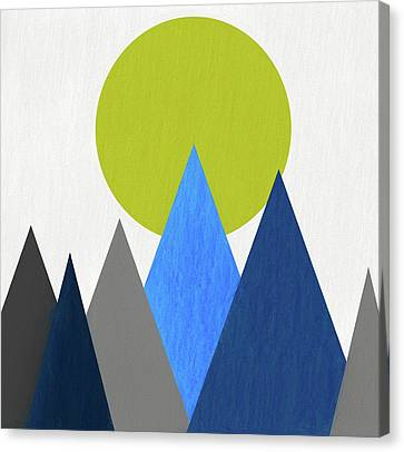 Abstract Mountains And Sun Canvas Print by Dan Sproul