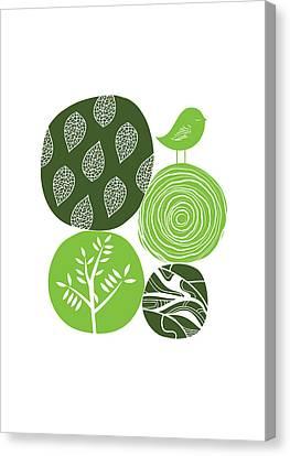Abstract Nature Green Canvas Print