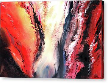 Canvas Print featuring the painting Abstract New by Anil Nene