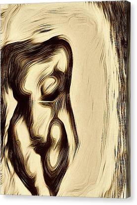 Abstract Nude Canvas Print