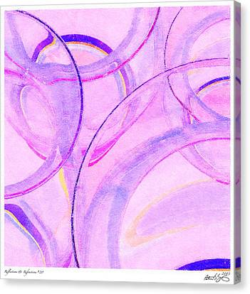 Canvas Print featuring the painting Abstract Number 20 by Peter J Sucy